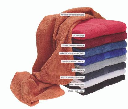 Billede af Håndklæde Efa 360 g/m2 SORT 50x90 cm.