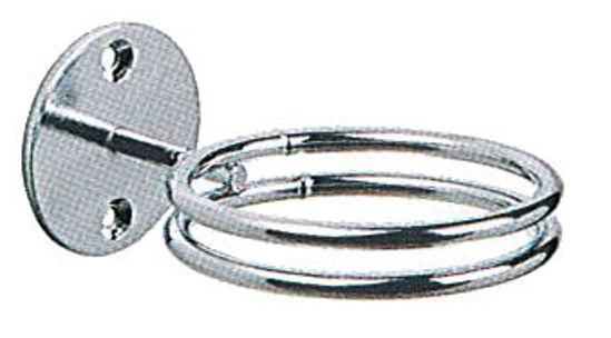 Billede af Fønholder krom t/væg lige EFA 2 ringe