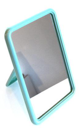 Billede af Kosm. Spejl lysegrøn firkantet 12x16 cm.