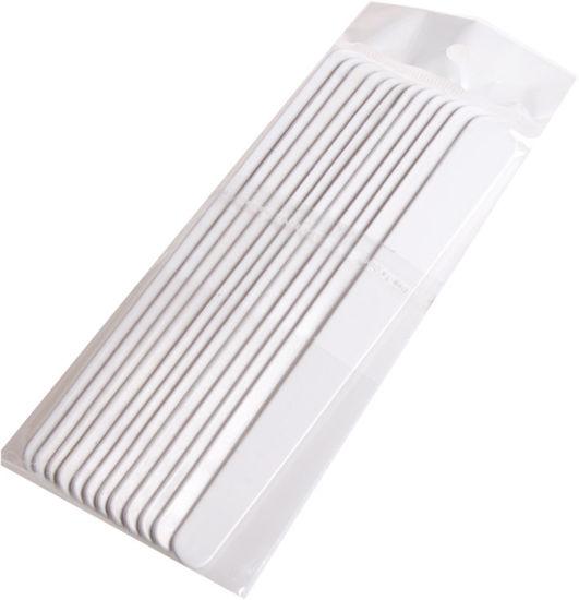 Billede af Kosm. Spartel 12 stk. plast hvid 13,5 cm.