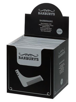 Billede af Barburys Barber skæg kam DISPLAY 12 stk.